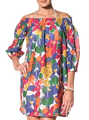 French Connection Women's Fancy Floral Off-The-Shoulder Cover Up