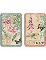 Entertaining with Caspari Double Deck of Bridge Playing Cards with Jumbo Typeface, Decoupage, Set of 2