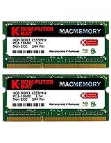 Komputerbay MACMEMORY 8GB (2x 4GB) DDR3 PC3-10600 1333MHz SODIMM 204-Pin Laptop Memory for Apple Mac
