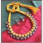 [N16O_025] Yellow Thread Necklace 04