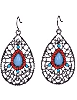 Saadi Gali Metal Dangle and drop Earring For Women (Metallic)