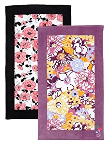 """Steve Madden Set of 2 Camilla and Shay Beach Towels, 40"""" x 70"""""""