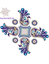 Diwali Gifts - Decorative Acrylic Rangoli RR89 with kaju katli