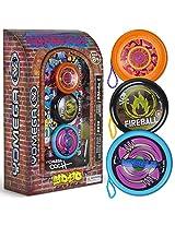 3 Pack Yomega Urban Graffiti Yo-Yo Gift Set with 150 Trick Instructional DVD