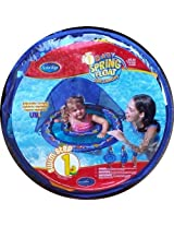 Baby Spring Float with Sun Canopy Swim Ways Blue with Starfish and Clown Fish by Swimways Spring Float