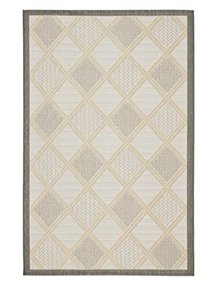 Safavieh Courtyard Indoor/Outdoor Rug, Light Grey/Anthracite, 8' 10