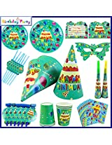 Funcart Frolic Birthday Theme Combo (Pack of 90 Pcs.)