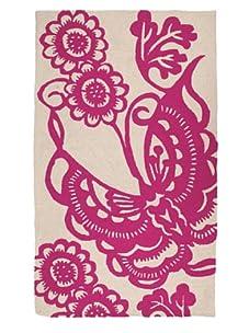 Trina Turk Butterfly Hook Rug (Pink)