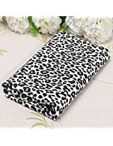 Leopard Strip Print Patchwork Fabric Cotton Sewing Craft For Cloth Supplies -Black