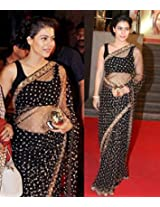 Bollywood Design Kajol Black Beauty Saree/p142