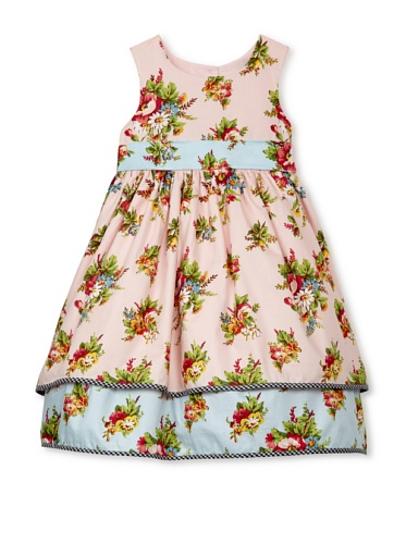 Laura Ashley Girl's Twin Print Floral Hangout (Pink/Light Blue)