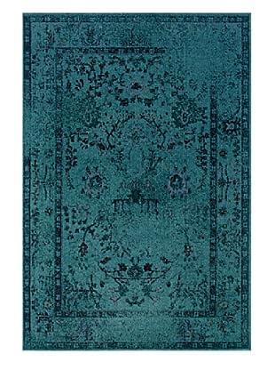Granville Rugs Vintage Rug (Blue/Black/Brown/Purple)