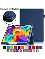 Fintie Samsung Galaxy Tab S 10.5 Folio Case - Slim Fit Premium Vegan Leather Cover for Samsung Tab S 10.5-Inch Tablet with Auto Sleep/Wake Feature, Navy