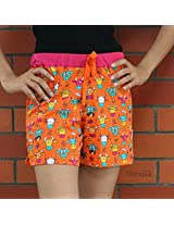 Moo Cow Women Orange Boxer Short