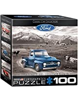 Euro Graphics Ford F 100 Pick Up Truck Mini Puzzle (100 Piece)
