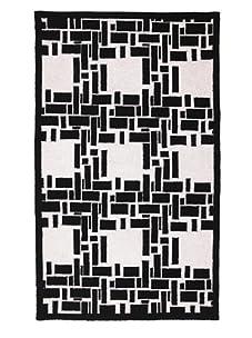 Trina Turk Bamboo Plaid Hook Rug (Black/White)