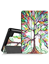 """Fintie Fire 7 2015 Slim Shell Case - Ultra Slim Lightweight Standing Cover for Amazon Fire 7 Tablet (will only fit Fire 7"""" Display 5th Generation - 2015 release), Love Tree"""