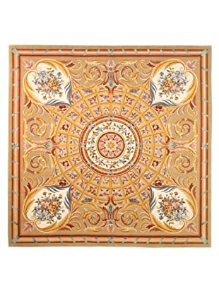 Roubini Venetian Hand Knotted Wool & Silk Rug, Multi, 8' Square