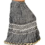 Sanganeri Designer Black-White Cotton Skirt Black Long Skirt SKU DLI3SKT218