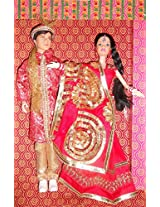 Kids Creation Indian Traditional Wedding Pair (Colors May Vary)
