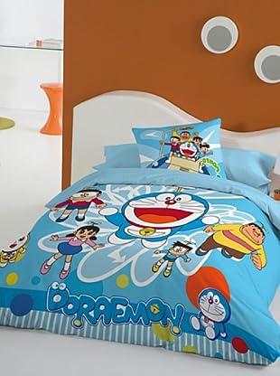 Euromoda Juego De Funda Nórdica Doraemon Volador (Azul)