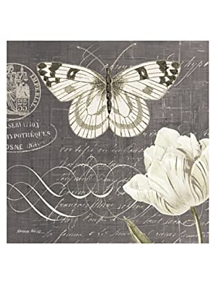 """Kathryn White Butterfly Blossom No. 4 Hand-Embellished Canvas, 20"""" x 20"""""""