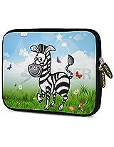 Amzer 7.9 - 10.5 Inches Designer Neoprene Sleeve Case for iPad/Tablet/e-Reader and Notebooks, Lexi Zebra (AMZ5269105)