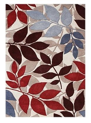 Alliyah Rugs New Zealand Wool Rug (Sand/Cherry/Brown/Multi)