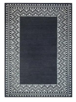 Mili Designs NYC Black Zig Zag Rug, 5' x 8'