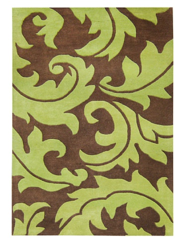 Horizon Rugs Casablanca Floral Rug (Brown/Green)