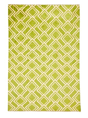 Azra Imports Vogue Rug, Green/Ivory, 5' 3
