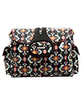 Kalencom Elite Diaper Bag, Garden Charm Black