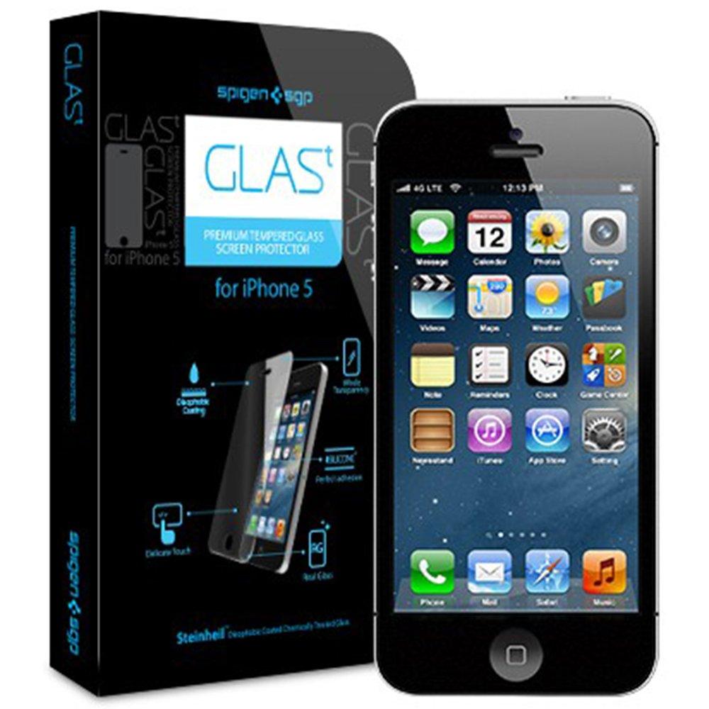 SPIGEN SGP iPhone5 GLAS.t Premium Tempered Glass Series 【SGP09435】