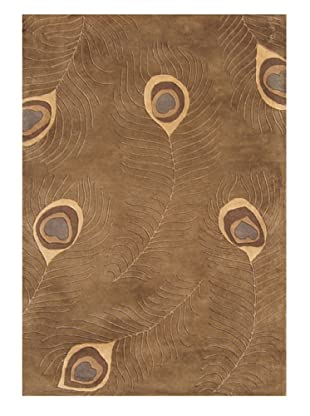 Znz Rugs Gallery Handmade Tufted New Zealand Blend Wool Rug, Tobacco/Tan/Grey, 5' x 8'