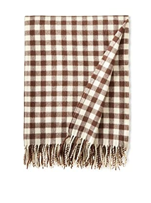 BRUN DE VIAN-TRIAN Merino Plaid Throw, Gardia
