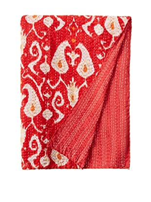 Paisley Bed Cover (Red/Yellow/White)