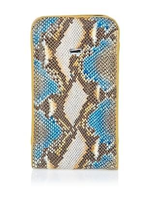 Braun Büffel Smartphoneetui (beige/blau/safran)