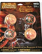 Disney Pirates of the Caribbean Bounce Balls 4ct ~ Birthday Party Supplies Favors
