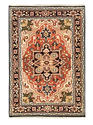 Hand-Knotted Royal Heriz Wool Rug, Copper, 4' x 6'