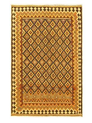 Hand Woven Kashkoli Wool Kilim, Cream, 5' 5