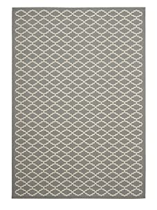 Indoor/Outdoor Patterned Rug (Anthracite/Beige)
