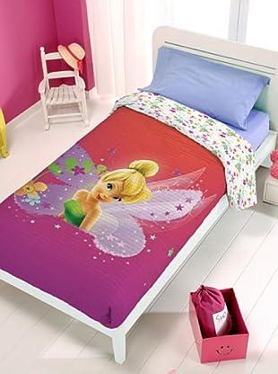 Disney Home Copriletto Campanellino (Fucsia/Rosso)