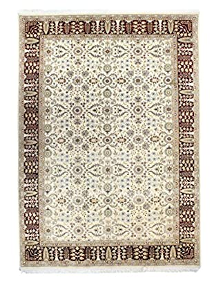 Bashian Rugs One-of-a-Kind Hand Knotted Pakistani Kashan Rug, Ivory/Red, 6' 8