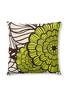 Trina Turk Embroidered Jungle Bloom Pillow (Green)