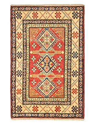 eCarpet Gallery One-of-a-Kind Hand-Knotted Gazni Rug, Red, 3' 4