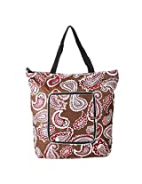 Ella Bags Funky Paisley Foldable Tote Bag (Brown)