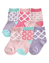 Hudson Baby 6 Pair Socks Gift Set, Light Pink, 6-12 Months