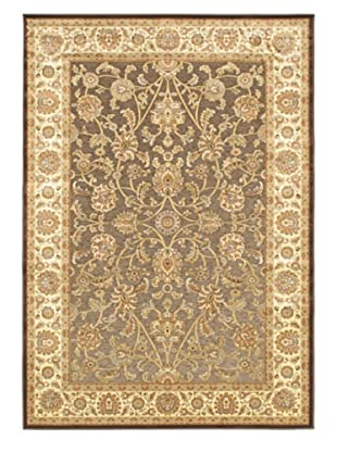 Babylon Garden Rug, Cream/Dark Brown, 5' 3