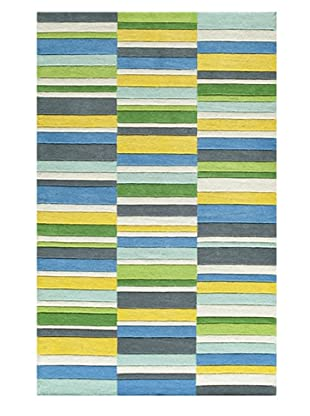 Momeni Stripe Rug (Blue Multi)