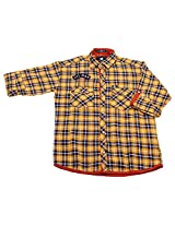 LITTLE MAN Cotton Boy's Shirt (LM3c3_16 , Yellow, 16)